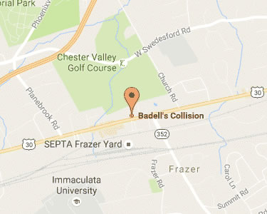 Map Badell's Collision Malvern, PA